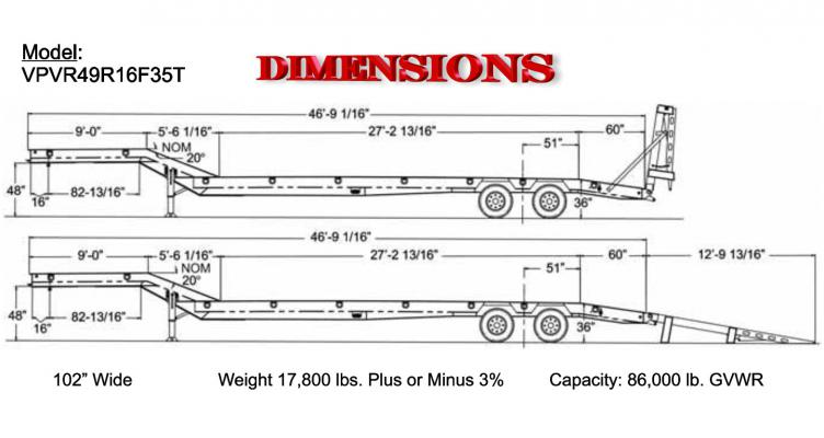 35 Ton Paver Special Lowboy Viking Specialized Trailers